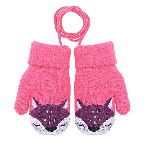 敬な脇に取り消す可愛い子供たち冬ストリング付きの暖かいミトンぬいぐるみ漫画の手袋 09