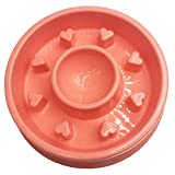 pink slow feed dog bowl - Pet Cuisine Slow Feeder Dog Bowl Anti-Gulping Interactive Puppy Slower Food Feeding Dishes Red Heart