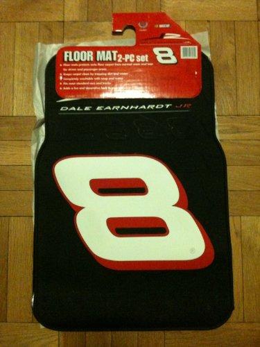 (Dale Jr. #8 car mat truck rubber 2 piece set front mats NEW)