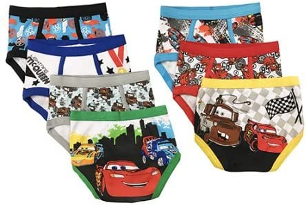 Disney Pixar Cars ディズニーピクサー幼児ボーイ、男の子下着 パンツ ブリーフ 7枚 (2-3歳)95cm-105cm [並行輸入品]