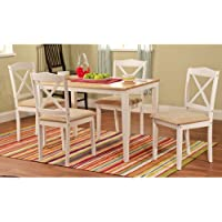 Mason 5 Piece Dining Set Finish: White