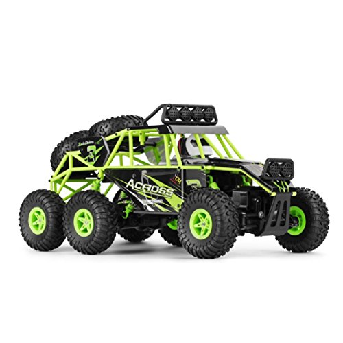New Year Gift Excellent 1/18 2.4GHZ 6WD Radio Remote Control Off Road RC Car ATV Buggy Monster Truck Dreamyth (green) (Off Skateboarding Road)