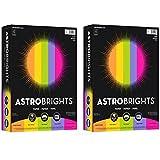 Astrobrights Inkjet, Laser Print Colored Paper, Cosmic Orange, Solar Yellow, Terra Green, Venus Violet, Fireball Fuschia, 500/Ream - 2 Ream