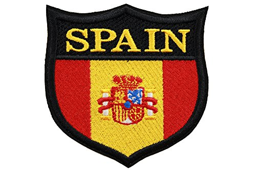 World Flags Embroidered Patch Shield (3 x 3) European Edition. Custom Flags of Countries in Europe. 100% Made in USA (Spain)