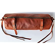 Horse Leather Cantle Saddle Bag Trail Riding Western or Endurance Tan 10217TN