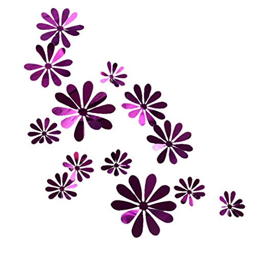 (Cute 3D DIY Flowers Wall Decals Home art Decor Flowers Wall Stickers Murals for Kids Girls room Bedroom Weeding party Birthday Shop Windows Decorations)