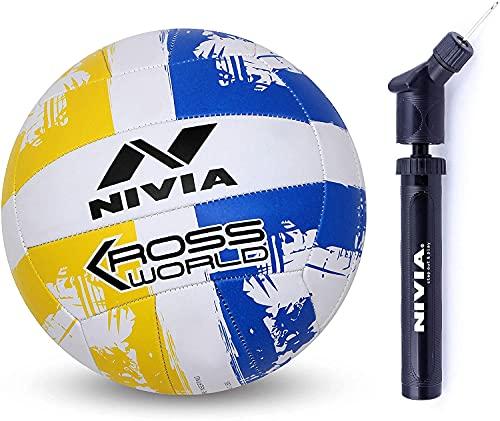 Nivia Kross World Rubber Volleyball, Size 4  Multicolour