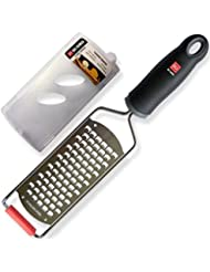 DI ORO Premium Hand Held Stainless Steel Cheese Grater - Easily Shreds & Grates Vegetables, Hard Cheeses, Parmesan, Other Foods - Best Kitchen Tool & Gadget - Razor Sharp Blade & Includes Cover