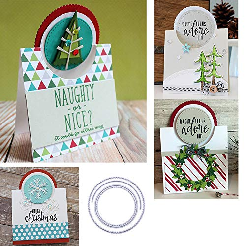 Pop Up Card Templates - Gilroy Pop-up Circle Cutting Dies Embossing Template Stencil for DIY Stamp Photo Frame Scrapbooking Album Card Making Decorative