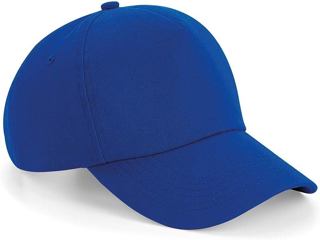 Beechfield - Gorra de 5 Paneles (Talla Única) (Azul Marino ...