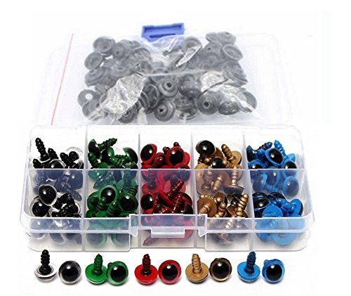 1 Box(100PCS) 12MM Multicoloured Plastic Safety Eyes Kit ...