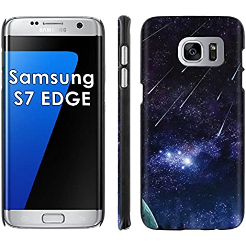 Samsung Galaxy [S7 EDGE] Phone Cover, Stars Ascending- Black Slim Clip-on Phone Case for [Samsung Galaxy [S7 EDGE]] Sales