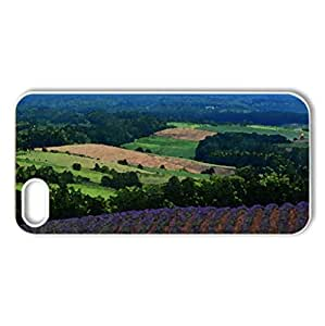 lavender fields in the valley - Case Cover for iPhone 5 and 5S (Flowers Series, Watercolor style, White)
