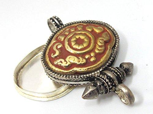 (1 pendant - Tibetan silver with gold copper color plating ghau box pendant - PM484)