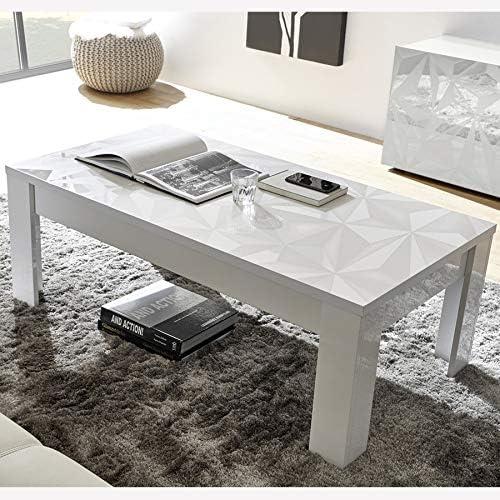 Mesa Baja Blanca lacada diseño Nino: Amazon.es: Hogar