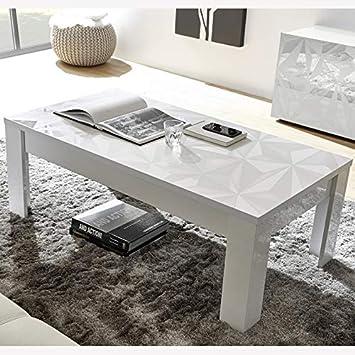 Nouvomeuble Table Basse Design Blanche Laquée Avec