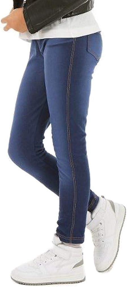 Verbelato M/ädchen Kinder Leggings Treggings Jeans-Look 6-13 Jahre