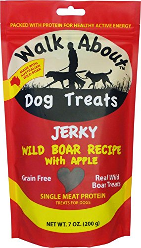 Walk About Dog Treat Jerky Wild Boar,net wt.7 OZ(200g)
