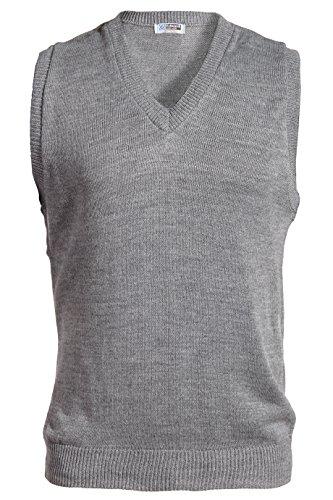 Ed Garments Sleeveless V-Neck Durable Sweater Vest, HEATHER GREY, X-Large