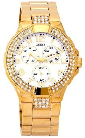 GUESS-Womens-G13537L-Status-Crystal-Accent-Multi-Function-Gold-Tone-Sport-Watch
