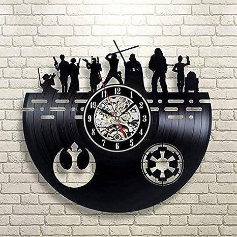 Amazon.com: Star Wars - Reloj de pared con símbolos hechos a ...