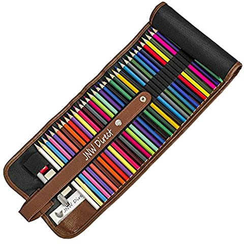 JNW Direct Colored Pencils, Best Coloring Pencil Set for Adults & Kids, Includes 48 Beautiful (Mega Argento Confezione)