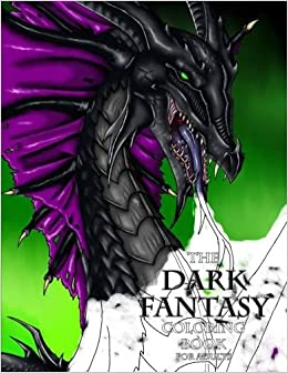 the dark fantasy coloring book for adults - Fantasy Coloring Books For Adults