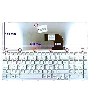 Portatilmovil - Teclado Blanco para Sony VAIO SVE15 Y SVE17 Series: Amazon.es: Electrónica