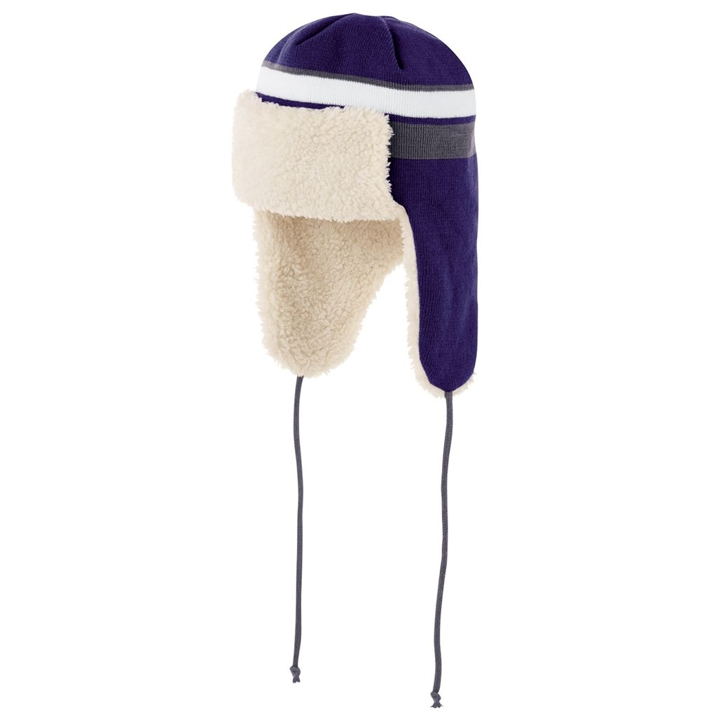 Holloway Comeback Trapper Beanie (One Size Fits Most, Purple/White/Graphite) by Holloway