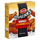 Expect More Any'tizers Tyson Any'tizers Hot 'N Spicy Bone-In Chicken Wings, 11 oz. (Frozen).pack of 6.f