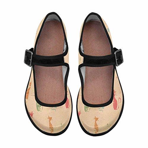 Interestprint Femmes Confort Mary Jane Appartements Casual Chaussures De Marche Multi 8