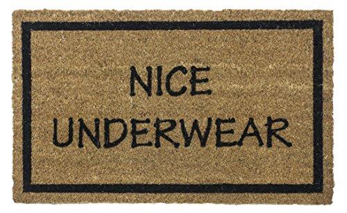 Entryways Funny Doormat Non-Slip Coir Doormat, Nice Underwear