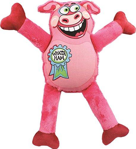 Petstages 676 Madcap Whatta Ham Dog Squeak Plush Toy