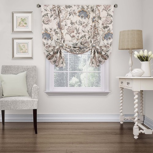 H.Versailtex Thermal Insulated Blackout Curtain Adjustable Tie Up Shade Rod Pocket Panel for Small Window-42