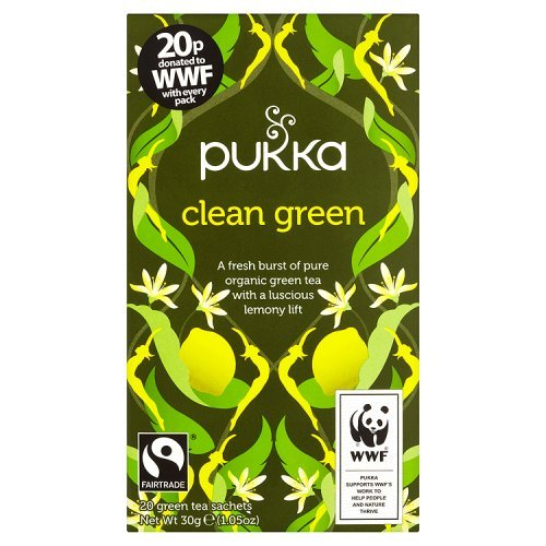 Pukka Herbs Bio Clean Green Teemischung, 30 g