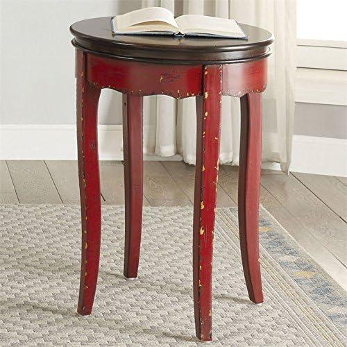 Furniture of America NYA Vintage Wood Round End Table