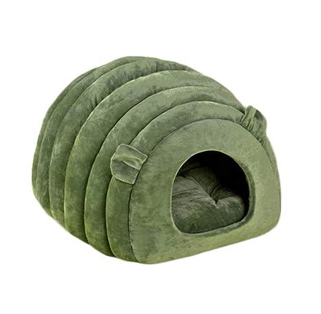 Cama para Mascotas Tienda para Gatos Cachorro Caliente Cama para Gatos Cueva Gato Nido Invierno Acogedor