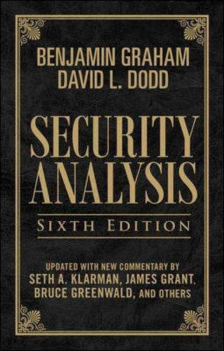 Security Analysis, Sixth Edition (Leatherbound Edition) by McGraw-Hill Education