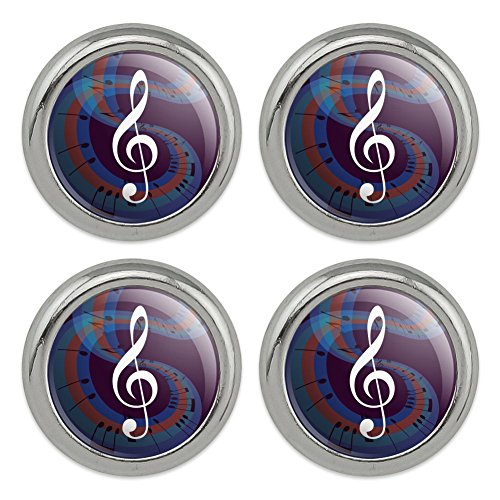 - Treble Clef on Music Notes Metal Craft Sewing Novelty Buttons - Set of 4