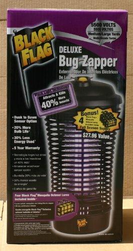 Black Flag 5500 Volt Deluxe Bug Zapper 40 W Plug-in Outdoor Dusk to Dawn Sensor