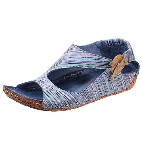 Riva - Sandalias de vestir para mujer azul azul Azul