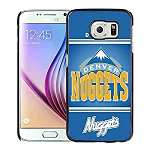 New Custom Design Cover Case For Samsung Galaxy S6 Denver Nuggets 10 Black Phone Case
