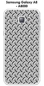 Carcasa para Samsung Galaxy, A8-A8000 metal, color plateado