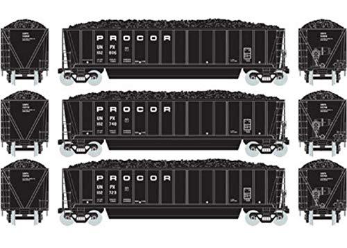 - Athearn HO RTR Bathtub Gondola w Coal Load Procor #2 (3)
