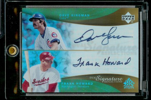 2005 Upper Deck Reflections Dual Signature Dave Kingman & Frank Howard Baseball Card - Mint Condition