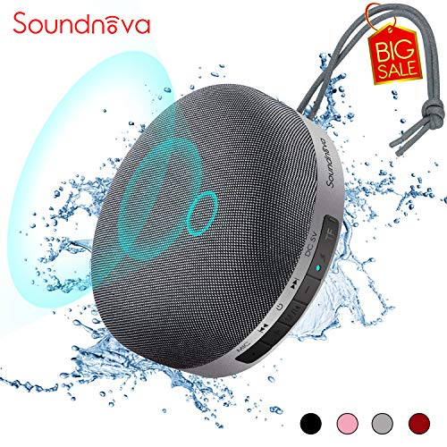 HiFi Soundnova N1 Bluetooth Portable Speaker V5.0 with 6W Powerful 3D Sound,Waterproof IPX4,15H Playtime,TWS,for iPhone,Samsung…Extra Bass Perfect for Home and Outdoors -Grey [Travel Case Included]