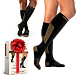 Compression Socks for Men & Women - Great For Sports - Running, Fitness, Exercises, Training, Jogging, Flight Travel - Better Results With Copper Support & Fast Recovery - Pair