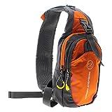 VANKER 1Pc Orange Outdoor Men Chest Messenger Nylon Diagonal Package Shoulder Bag