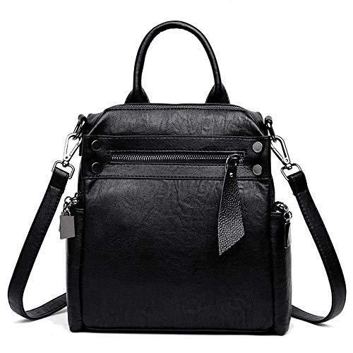 Eeayyygch del Coreana Simple Mujer Bolsa de Color Negro de Salvaje Marea tamaño Mensajero Bolso Hombro Bolso rPqtgr