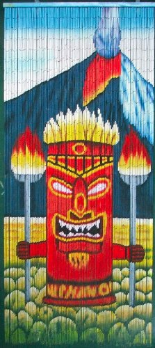 Tiki Volcano God Beaded Curtain 125 Strands (+hanging ()